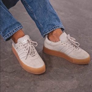 NWT Adidas Samba Rose Tan Gum Sole Sneakers